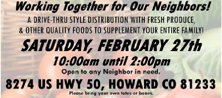 Food Distribution This Saturday